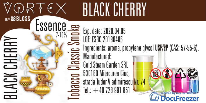 TOBACCO :: BLACK CHERRY